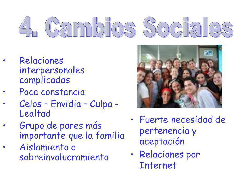 4. Cambios Sociales Relaciones interpersonales complicadas