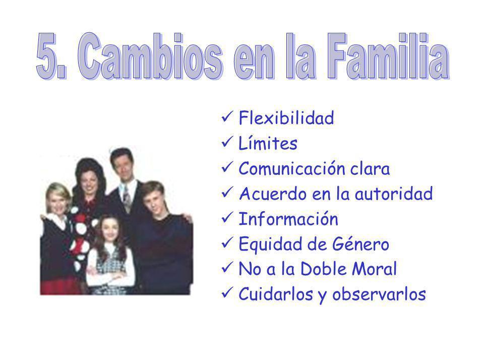 5. Cambios en la Familia Flexibilidad Límites Comunicación clara