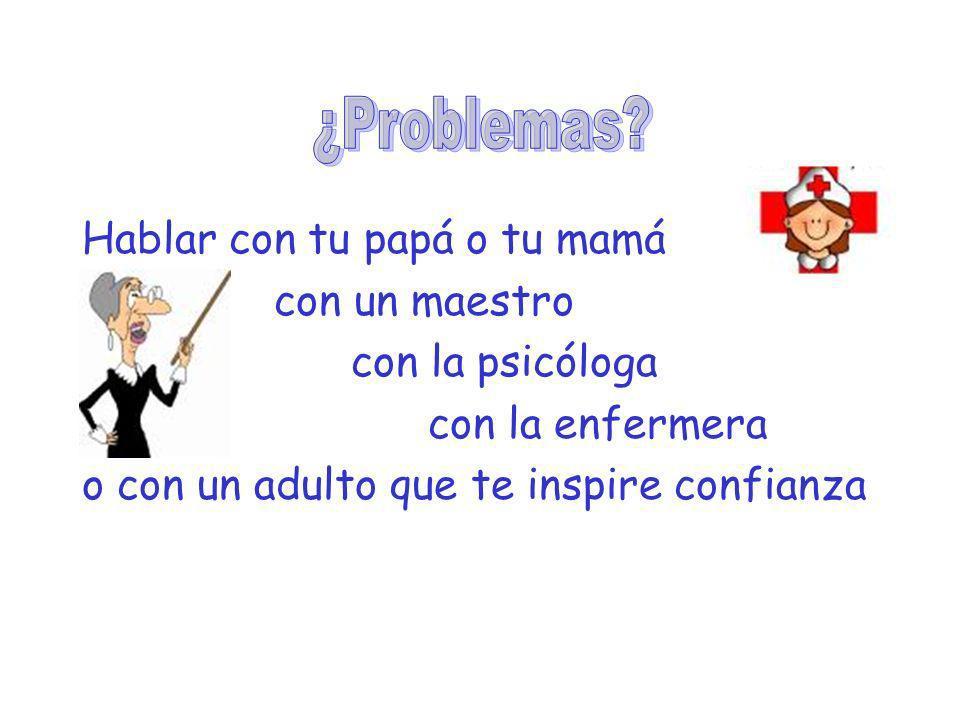 ¿Problemas Hablar con tu papá o tu mamá con un maestro