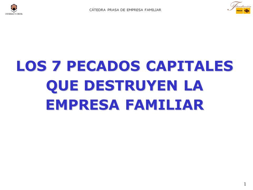 LOS 7 PECADOS CAPITALES QUE DESTRUYEN LA EMPRESA FAMILIAR