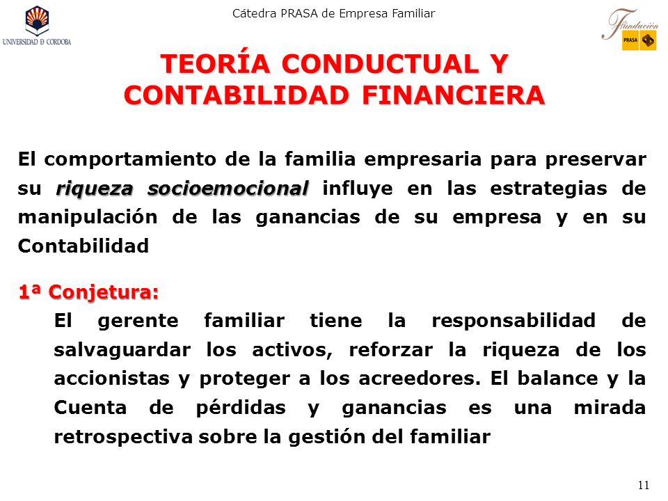 TEORÍA CONDUCTUAL Y CONTABILIDAD FINANCIERA