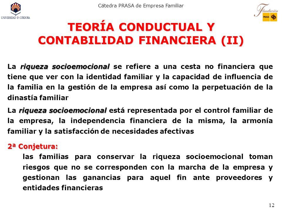 TEORÍA CONDUCTUAL Y CONTABILIDAD FINANCIERA (II)