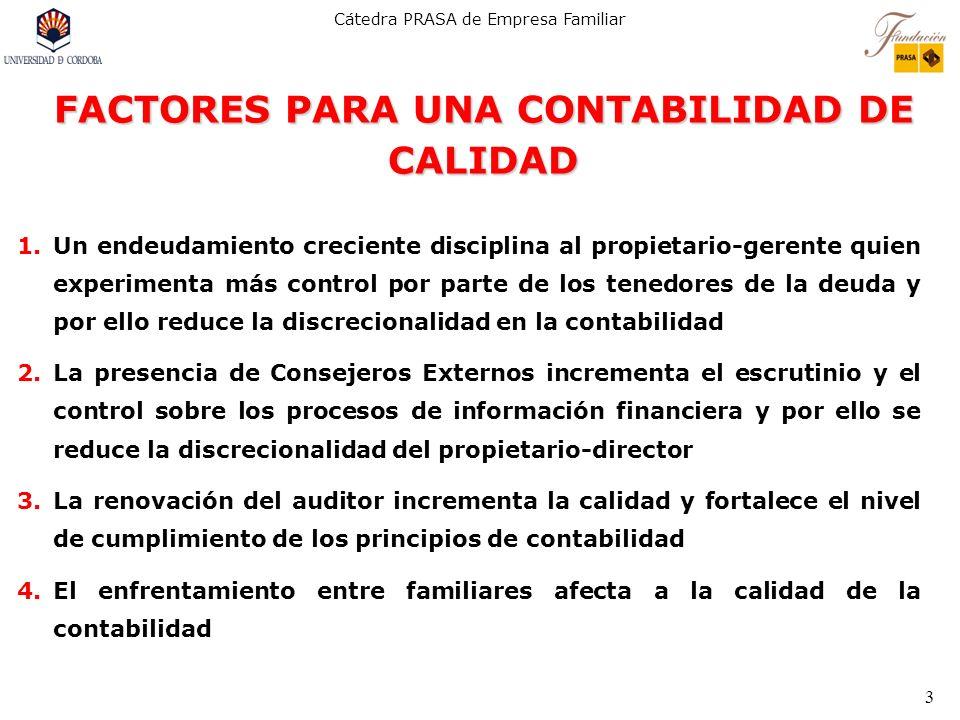 FACTORES PARA UNA CONTABILIDAD DE CALIDAD