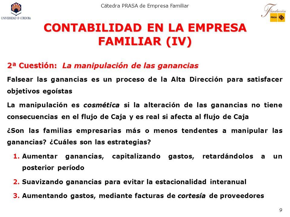 CONTABILIDAD EN LA EMPRESA FAMILIAR (IV)