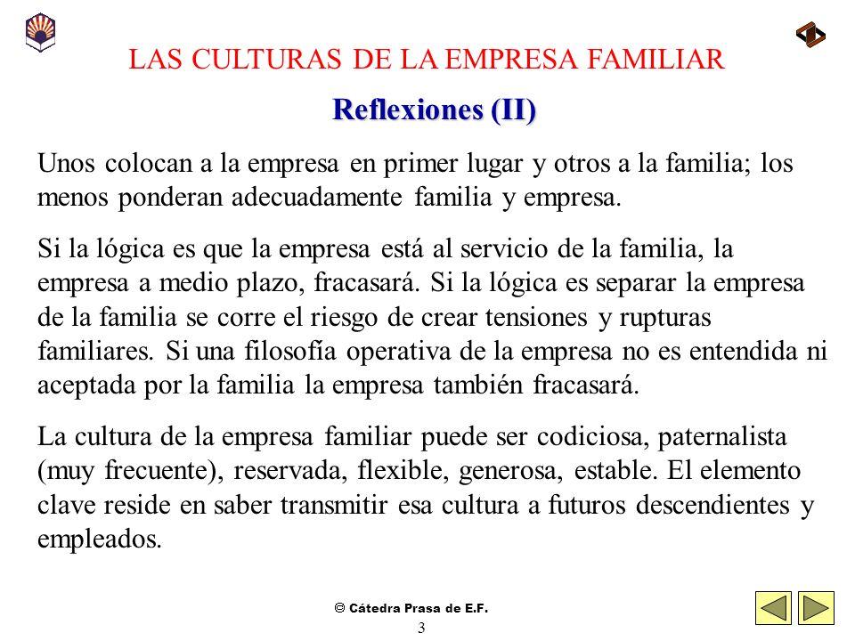 LAS CULTURAS DE LA EMPRESA FAMILIAR