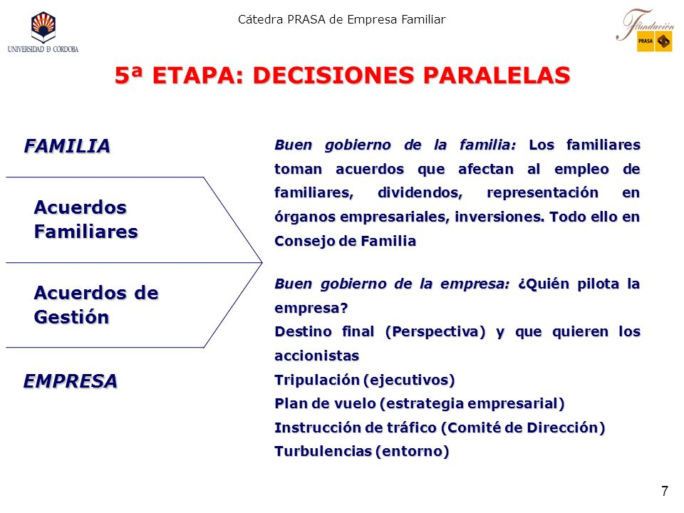 5ª ETAPA: DECISIONES PARALELAS