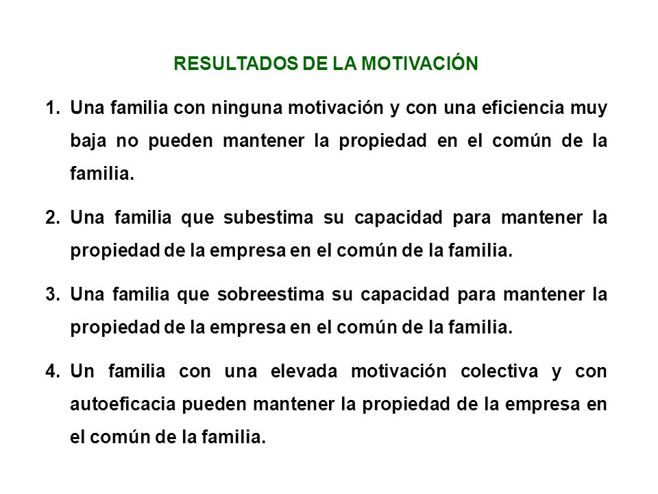 RESULTADOS DE LA MOTIVACIÓN