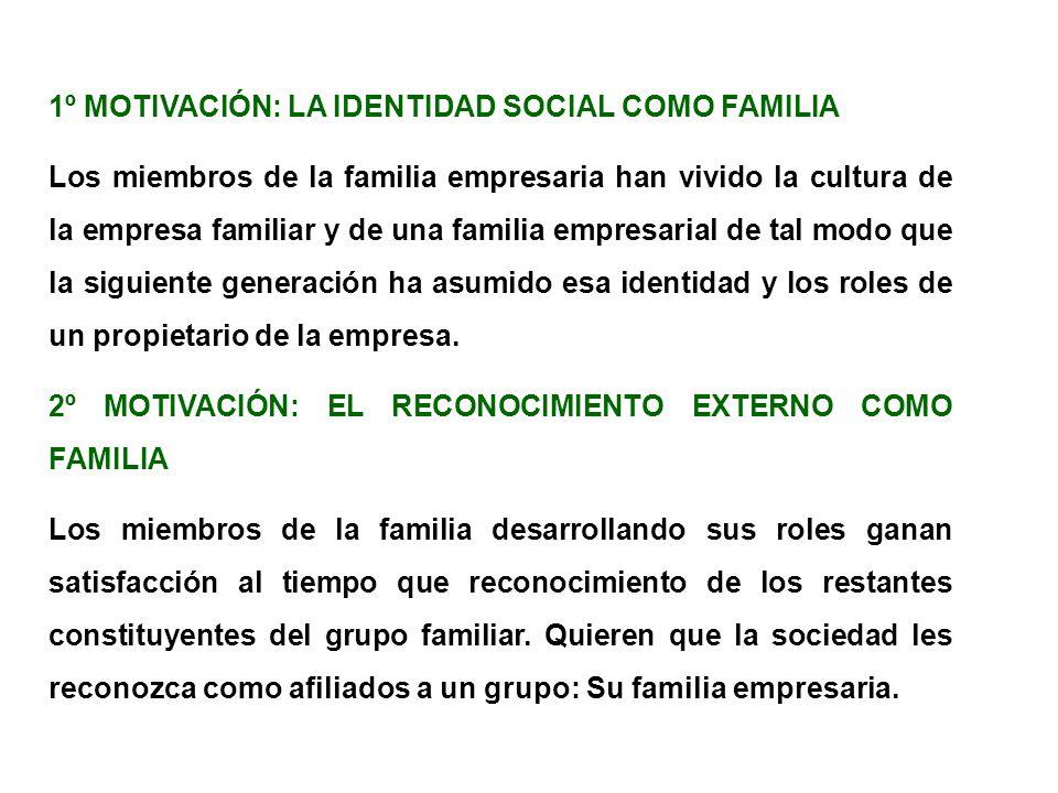 1º MOTIVACIÓN: LA IDENTIDAD SOCIAL COMO FAMILIA