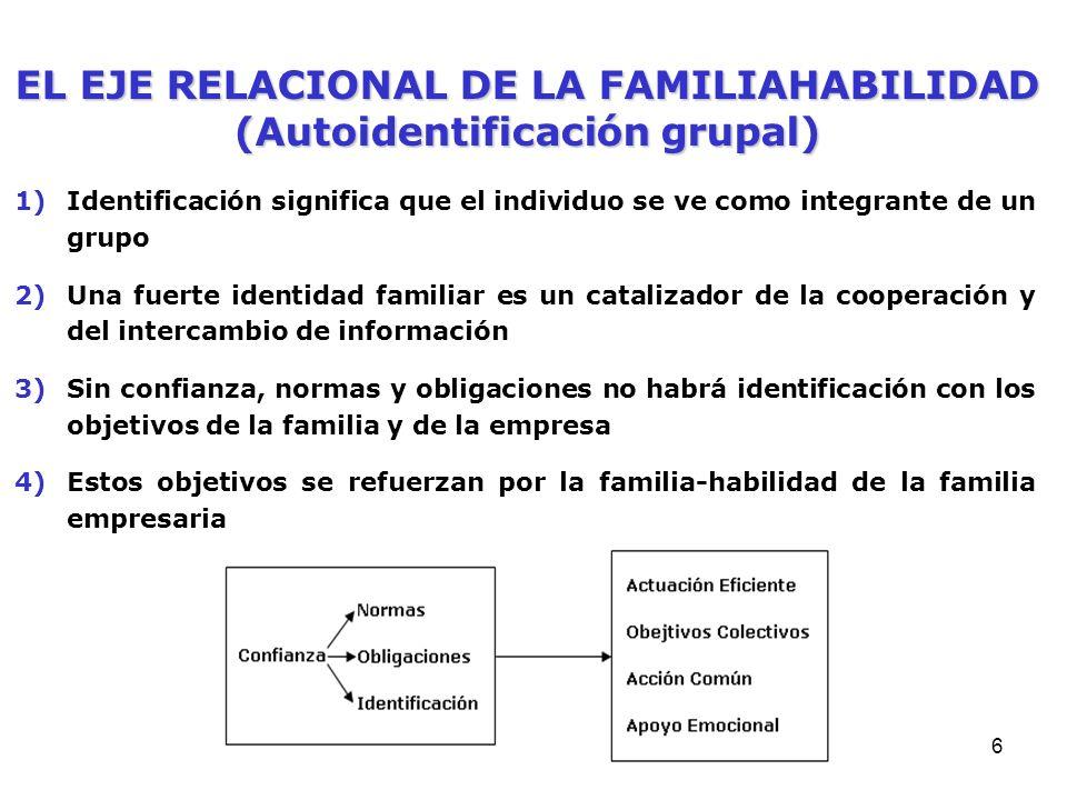 EL EJE RELACIONAL DE LA FAMILIAHABILIDAD (Autoidentificación grupal)