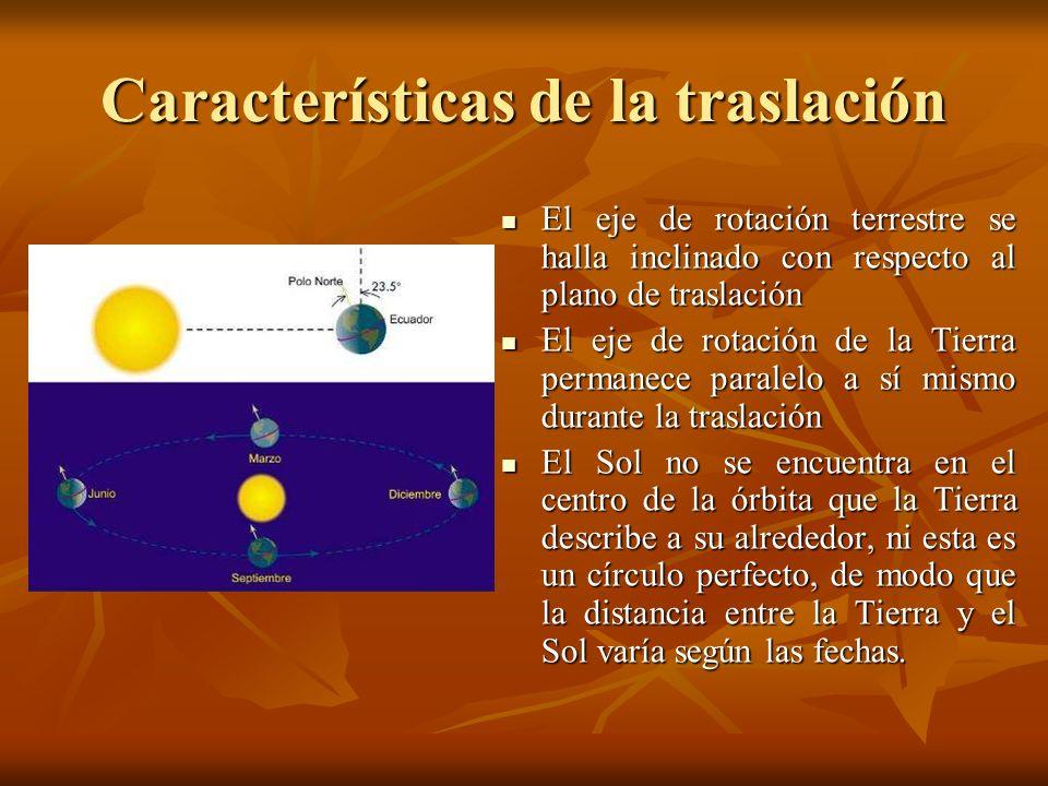 Características de la traslación