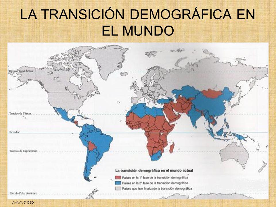 LA TRANSICIÓN DEMOGRÁFICA EN EL MUNDO
