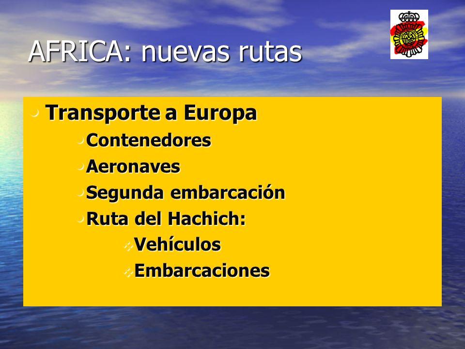 AFRICA: nuevas rutas Transporte a Europa Contenedores Aeronaves