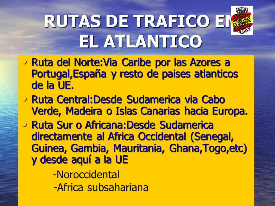 RUTAS DE TRAFICO EN EL ATLANTICO