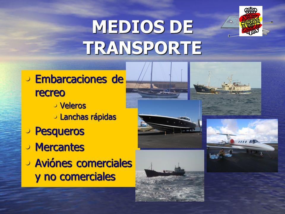 MEDIOS DE TRANSPORTE Embarcaciones de recreo Pesqueros Mercantes