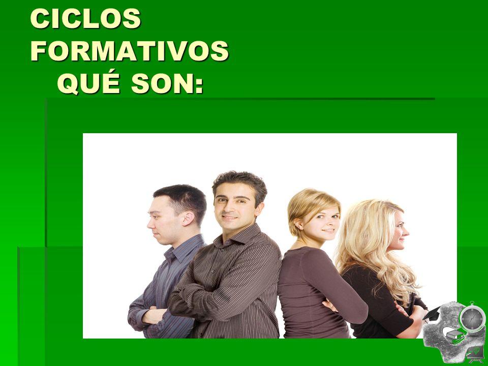 CICLOS FORMATIVOS QUÉ SON: