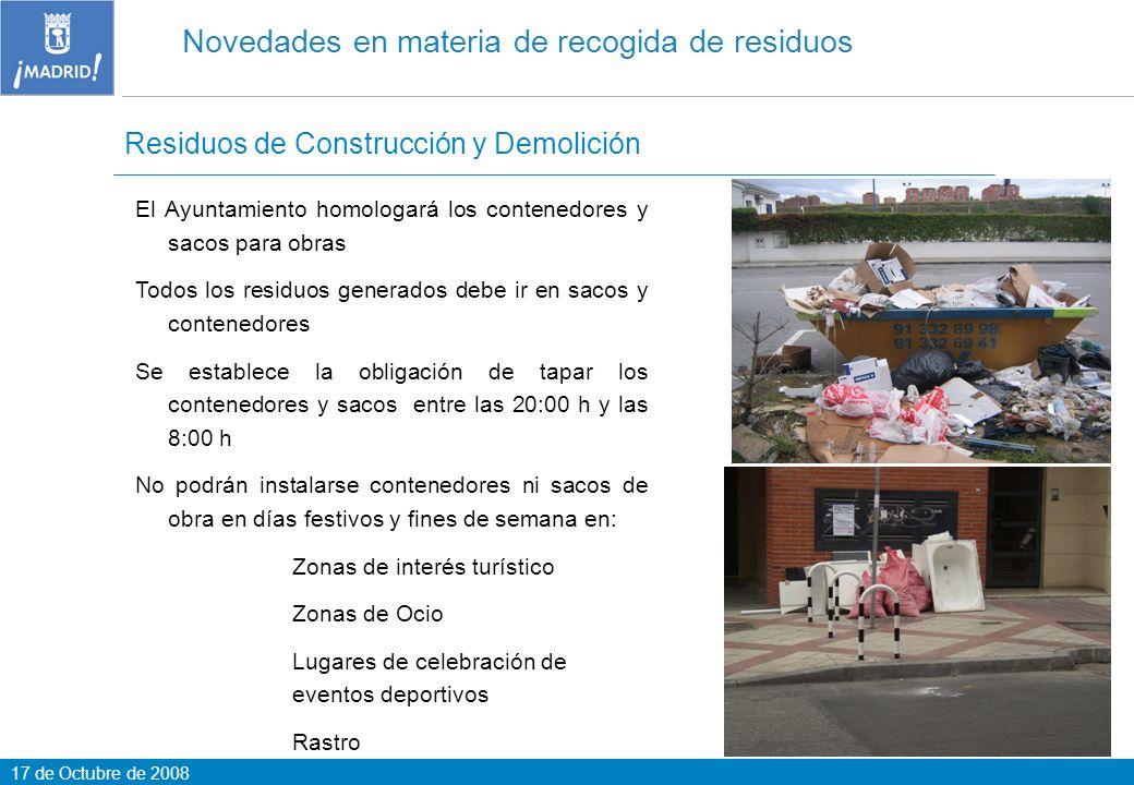 Novedades en materia de recogida de residuos