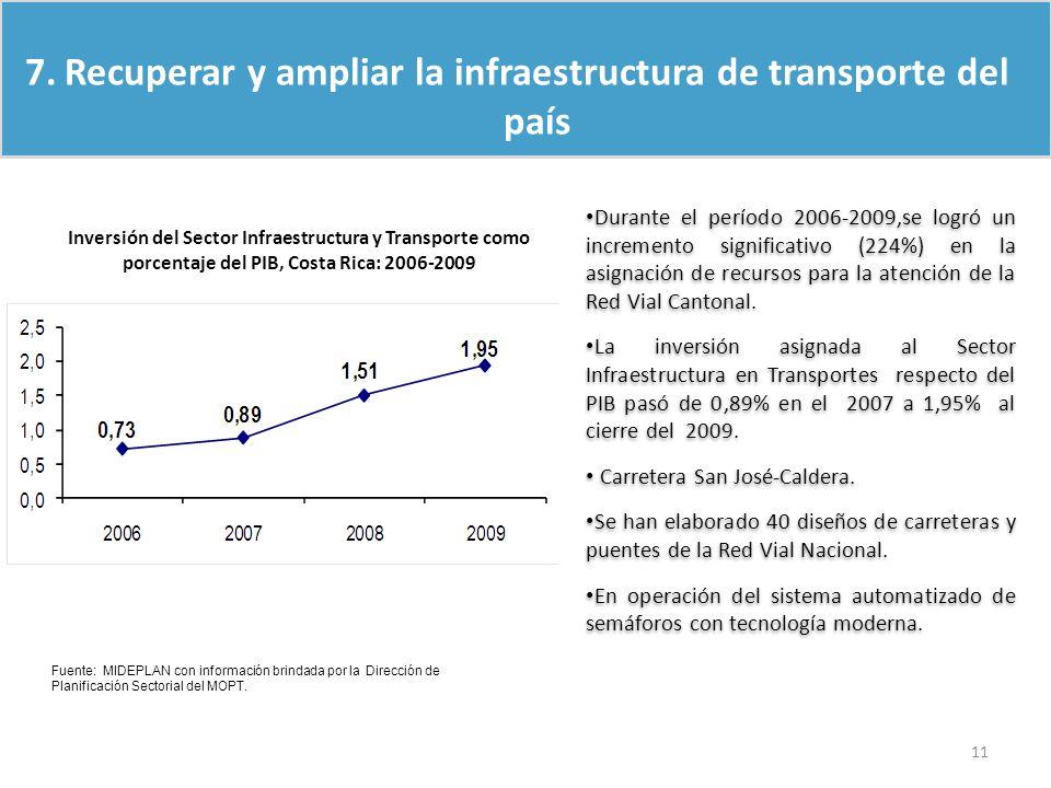 Recuperar y ampliar la infraestructura de transporte del país