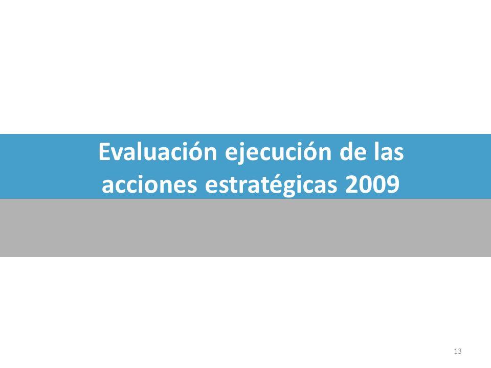 Evaluación ejecución de las acciones estratégicas 2009