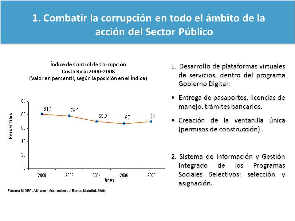 Combatir la corrupción en todo el ámbito de la acción del Sector Público