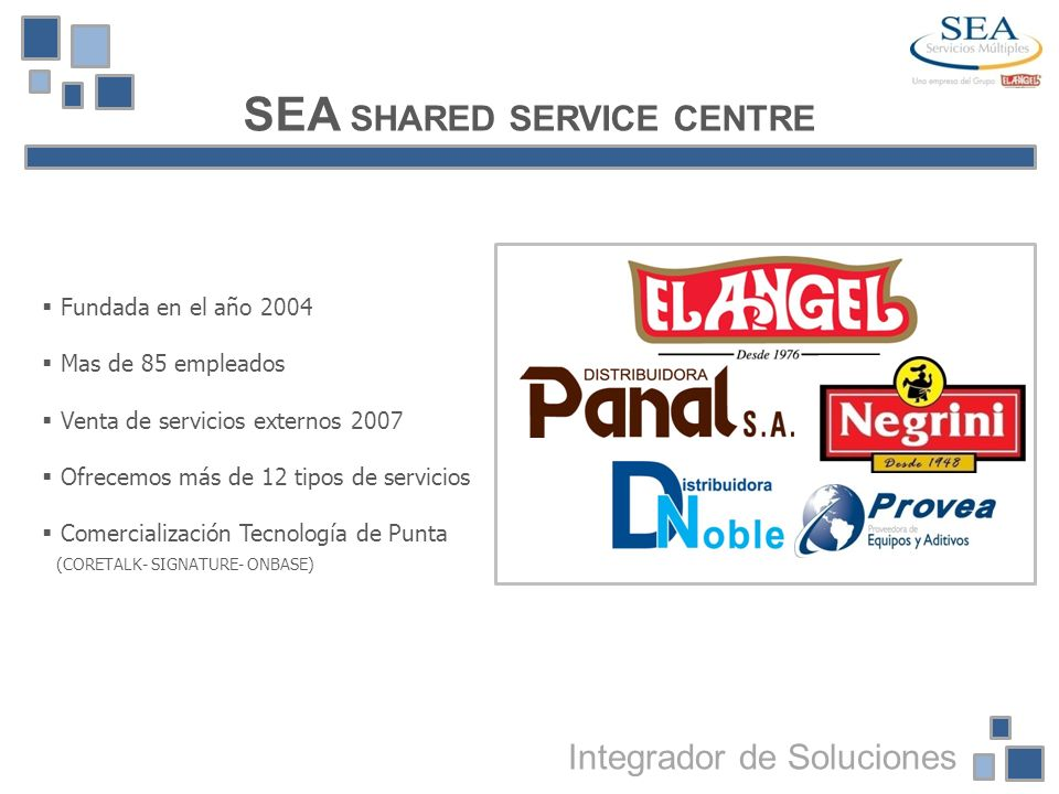 SEA SHARED SERVICE CENTRE