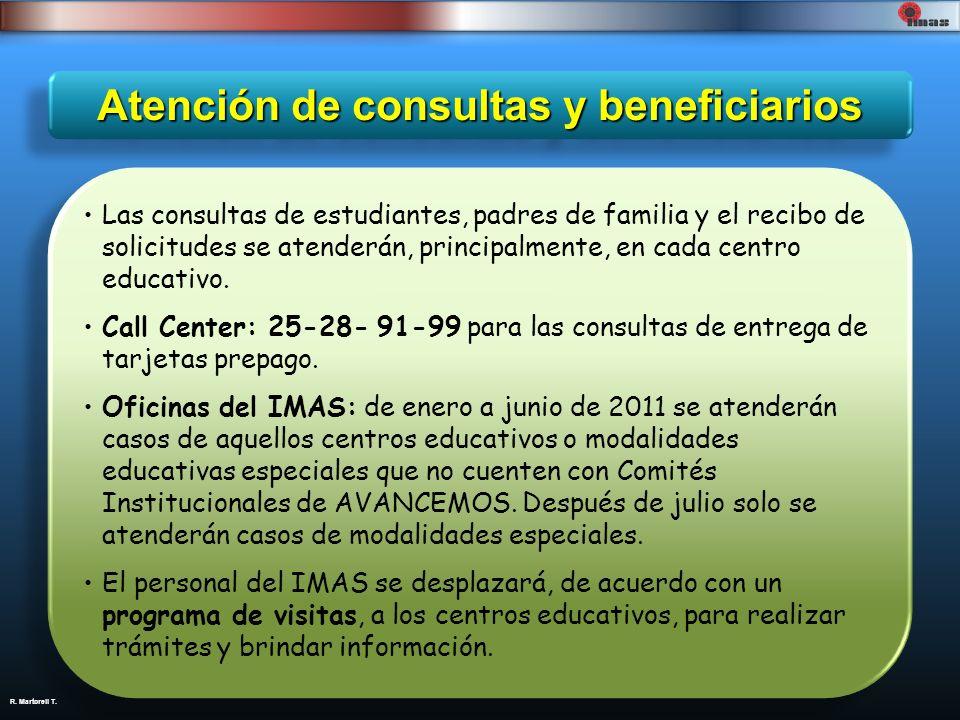 Atención de consultas y beneficiarios