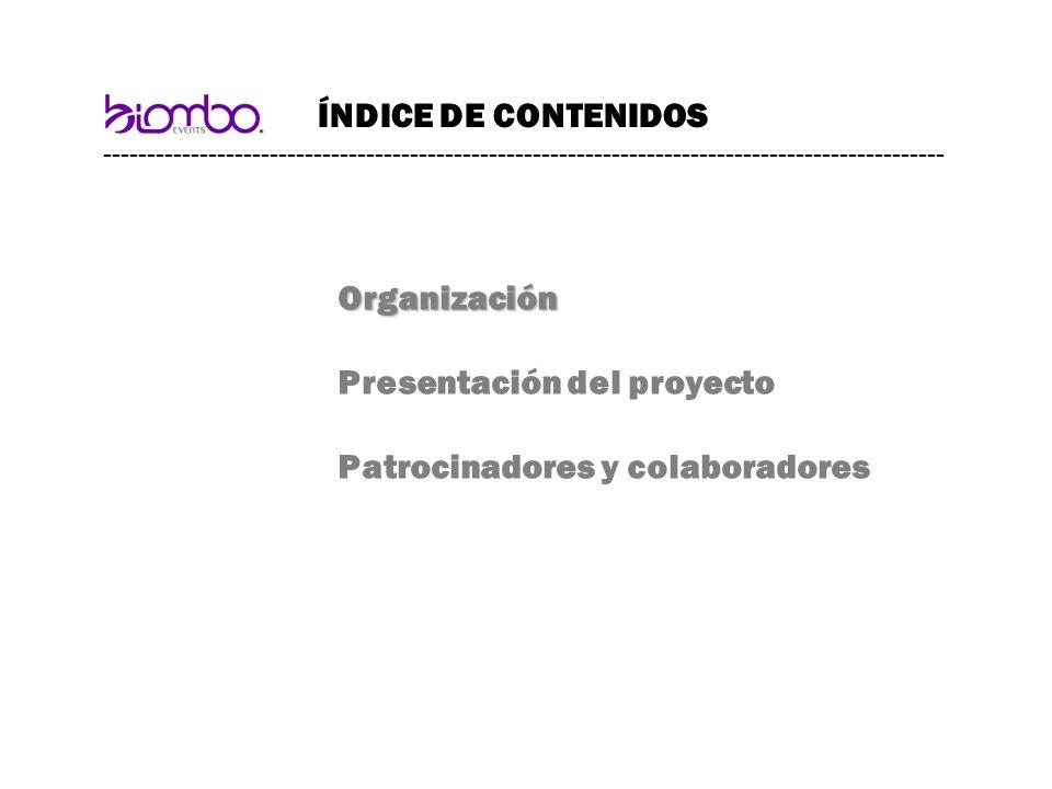 Presentación del proyecto Patrocinadores y colaboradores