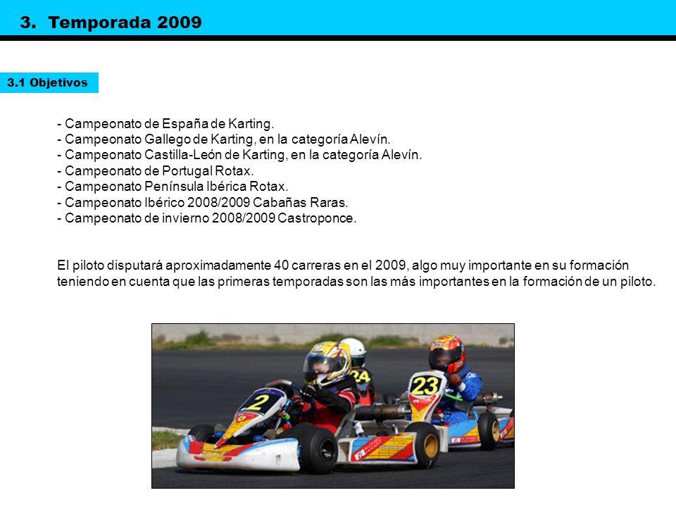 3. Temporada 2009 - Campeonato de España de Karting.