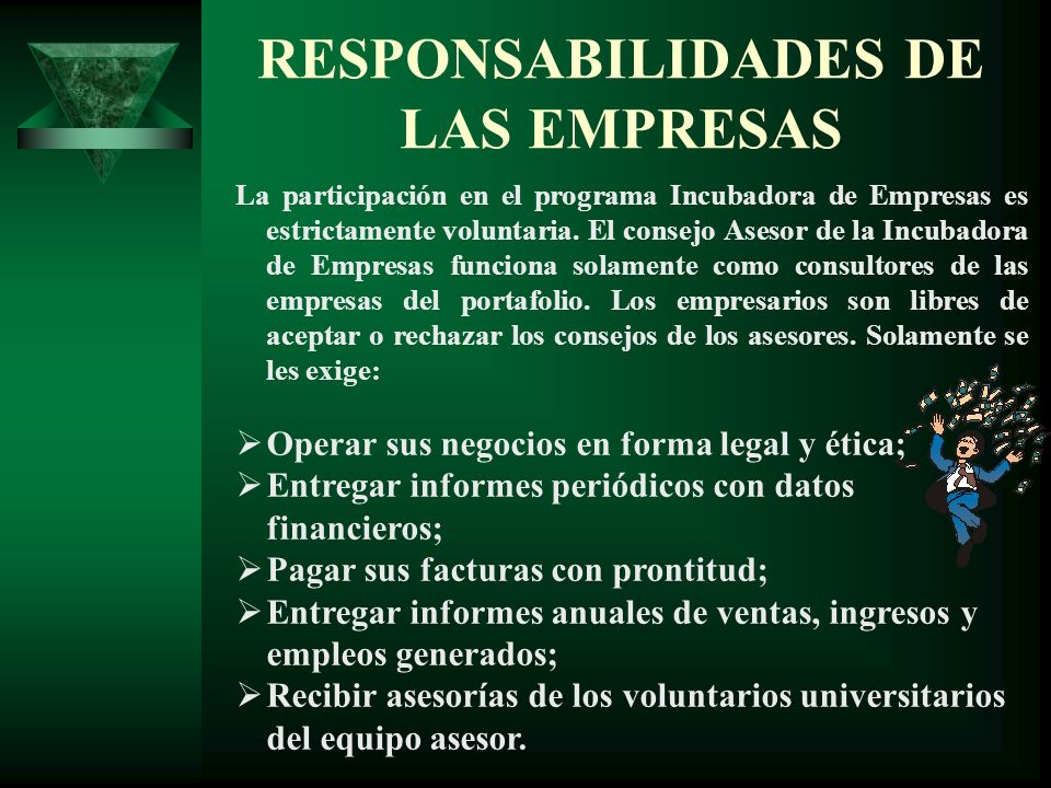 RESPONSABILIDADES DE LAS EMPRESAS