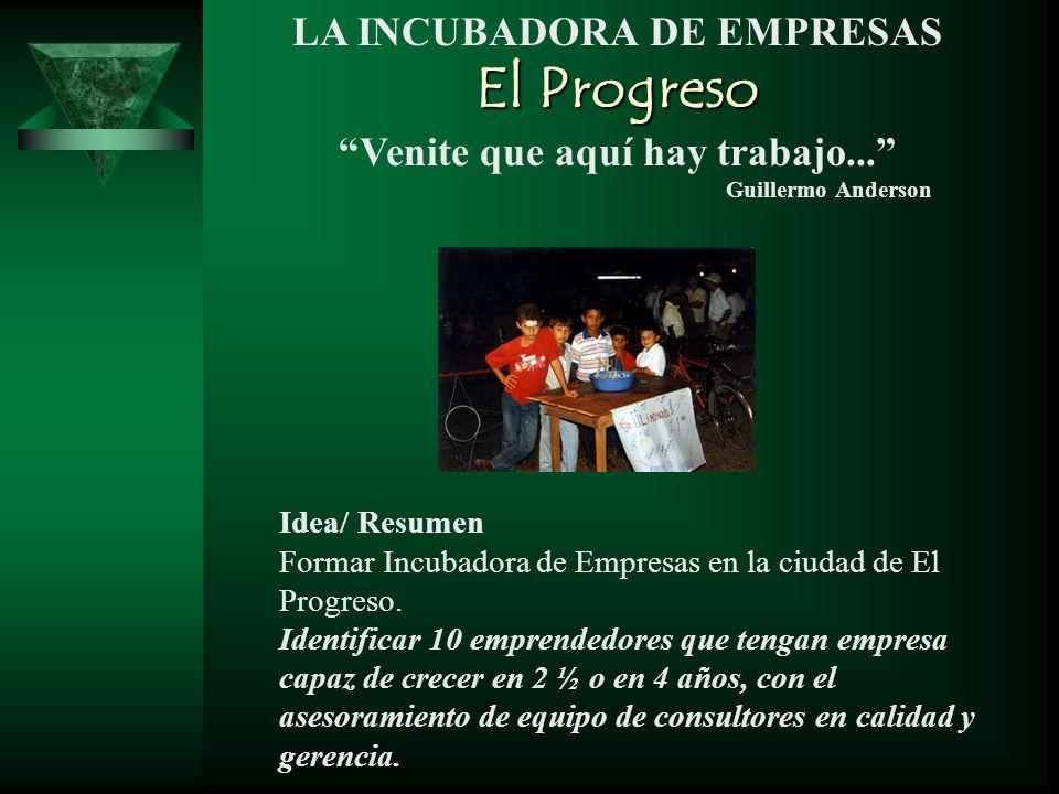El Progreso LA INCUBADORA DE EMPRESAS Venite que aquí hay trabajo...