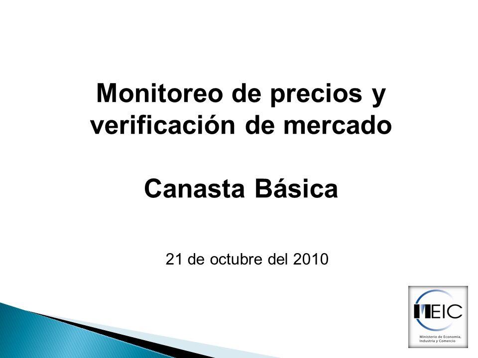 Monitoreo de precios y verificación de mercado