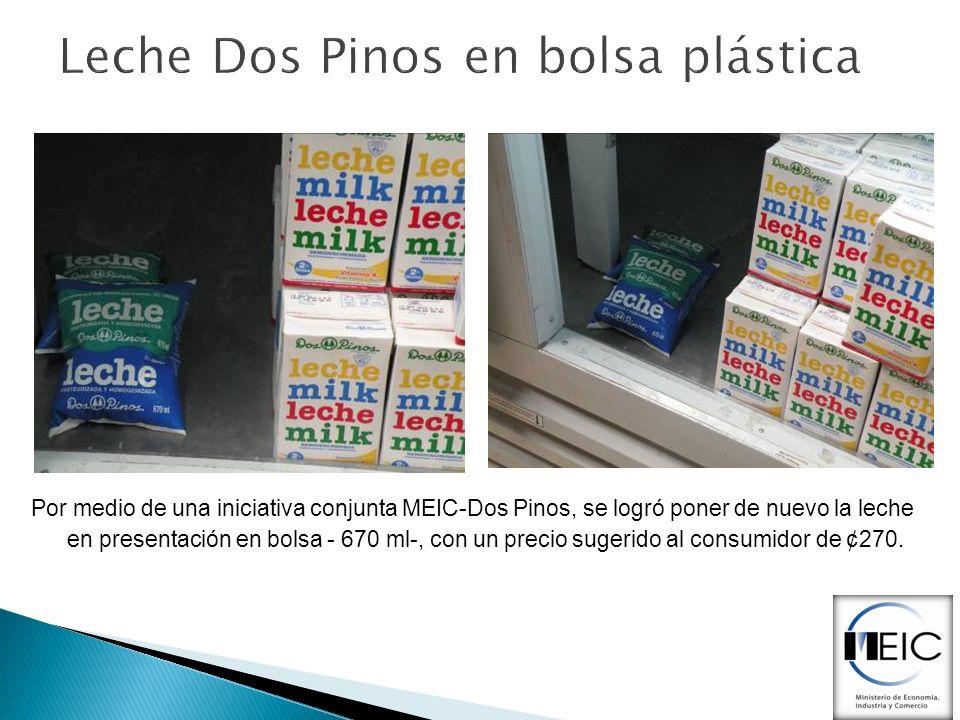 Leche Dos Pinos en bolsa plástica
