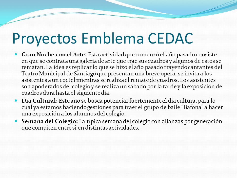 Proyectos Emblema CEDAC