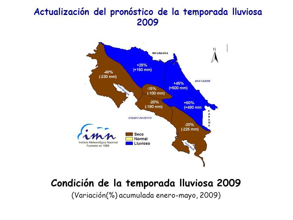 Condición de la temporada lluviosa 2009