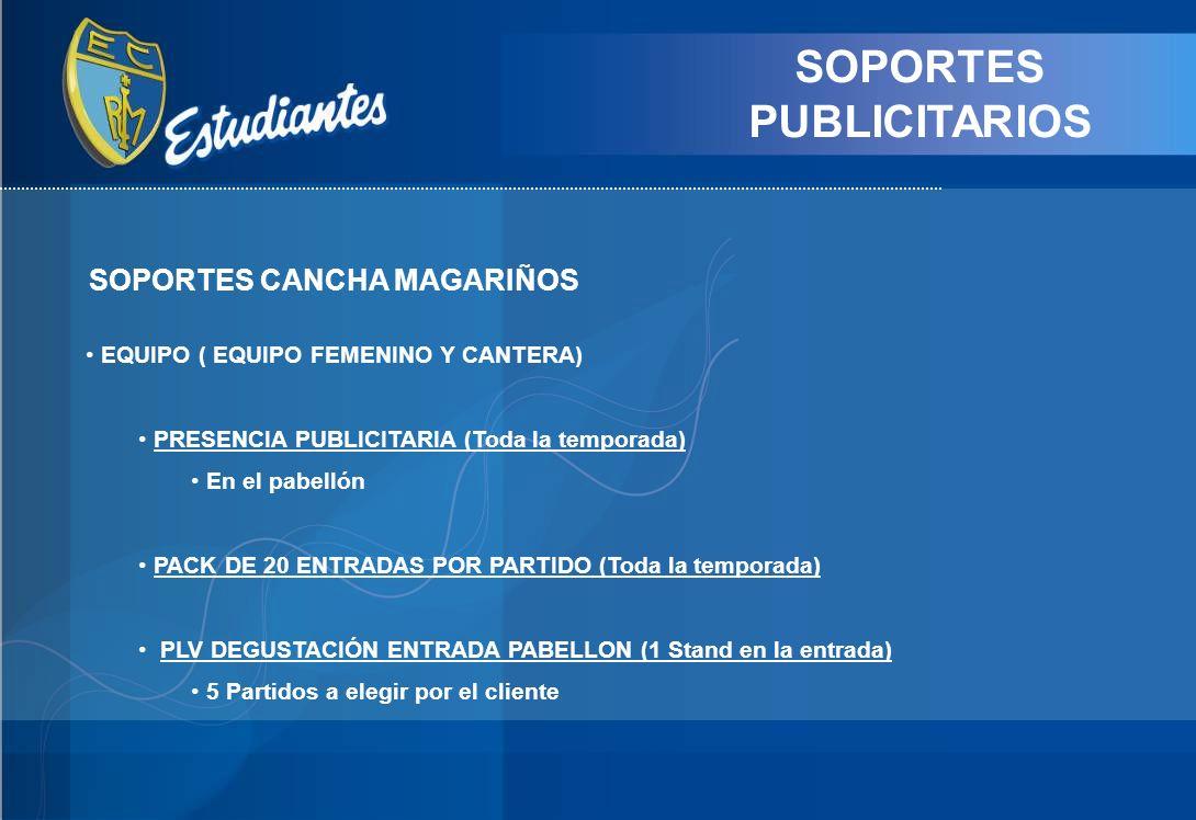 SOPORTES PUBLICITARIOS SOPORTES CANCHA MAGARIÑOS