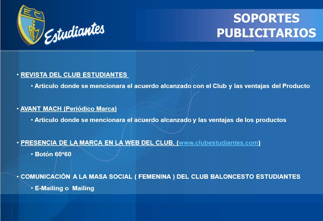 SOPORTES PUBLICITARIOS