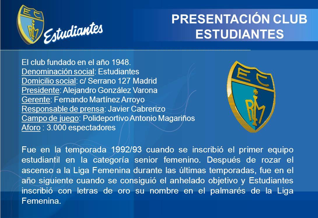 PRESENTACIÓN CLUB ESTUDIANTES