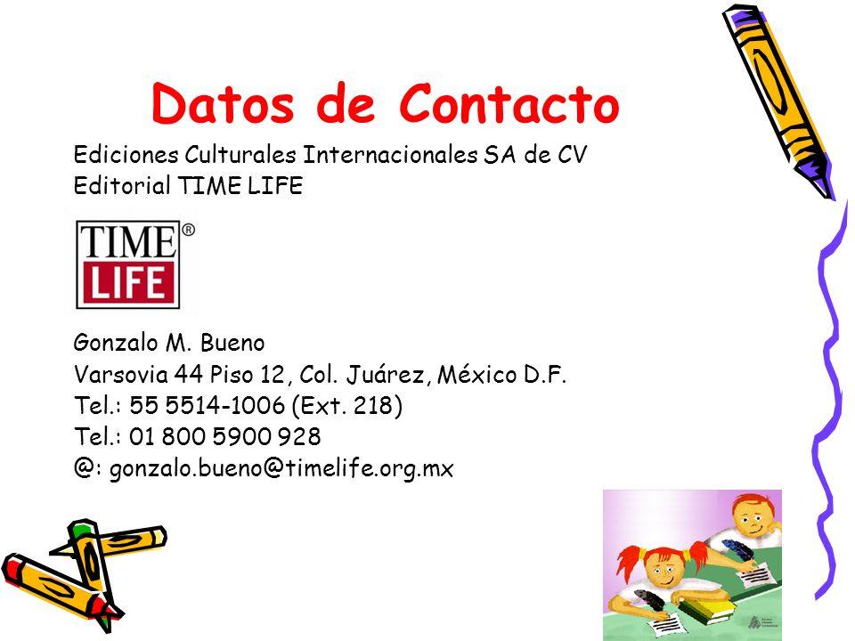 Datos de Contacto Ediciones Culturales Internacionales SA de CV