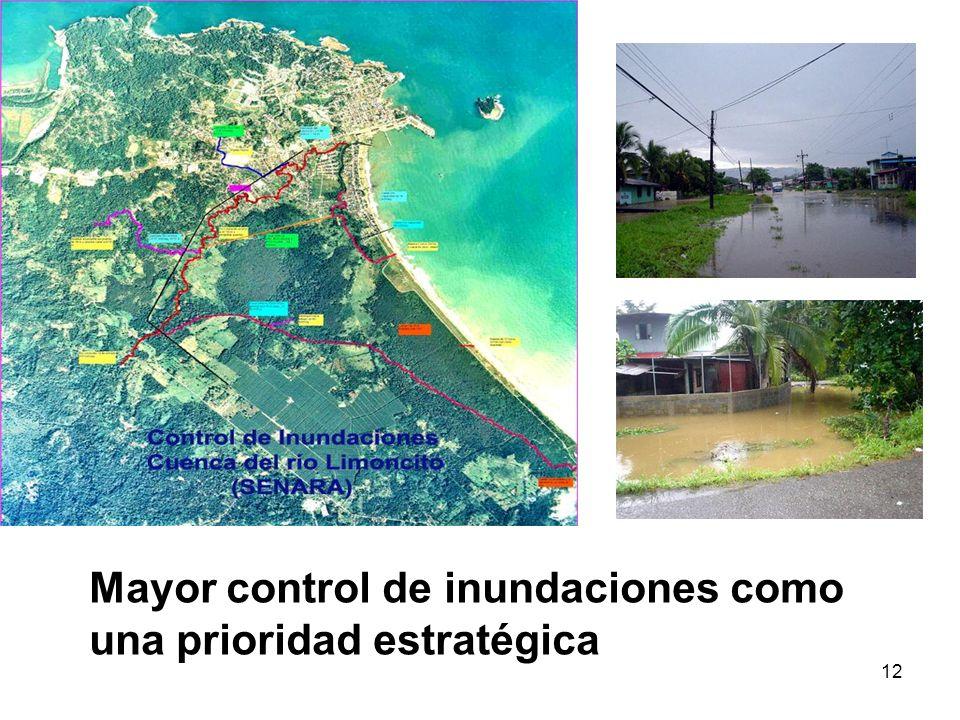 Mayor control de inundaciones como una prioridad estratégica