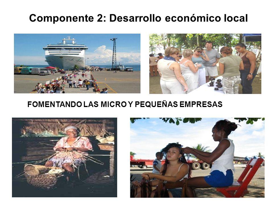 Componente 2: Desarrollo económico local