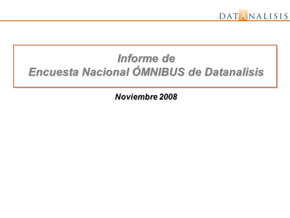Encuesta Nacional ÓMNIBUS de Datanalisis