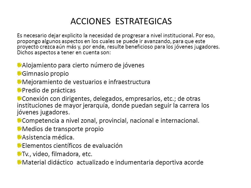 ACCIONES ESTRATEGICAS