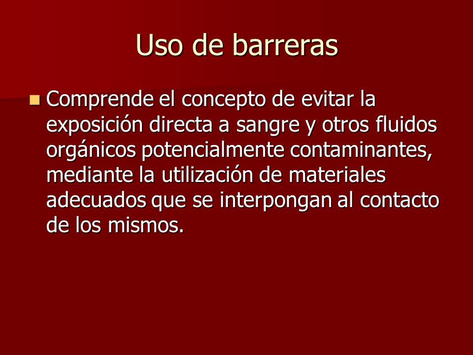 Uso de barreras