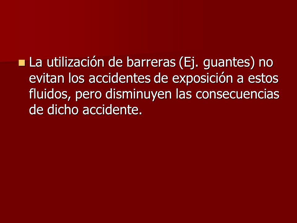 La utilización de barreras (Ej