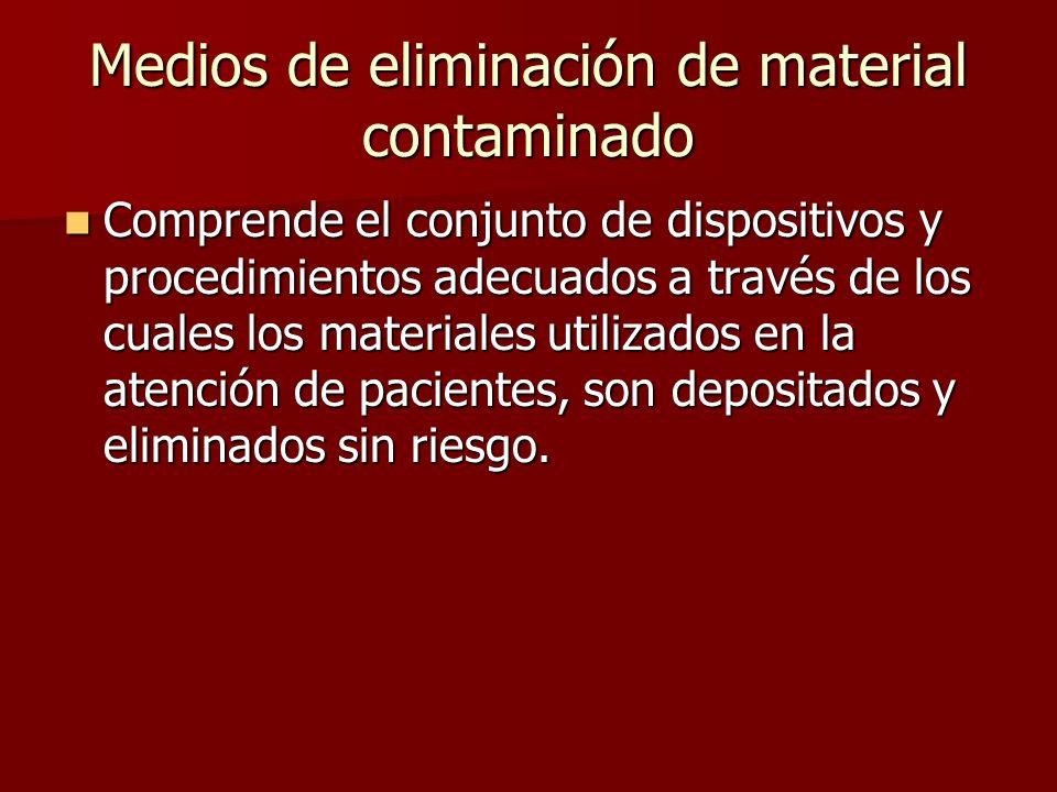 Medios de eliminación de material contaminado