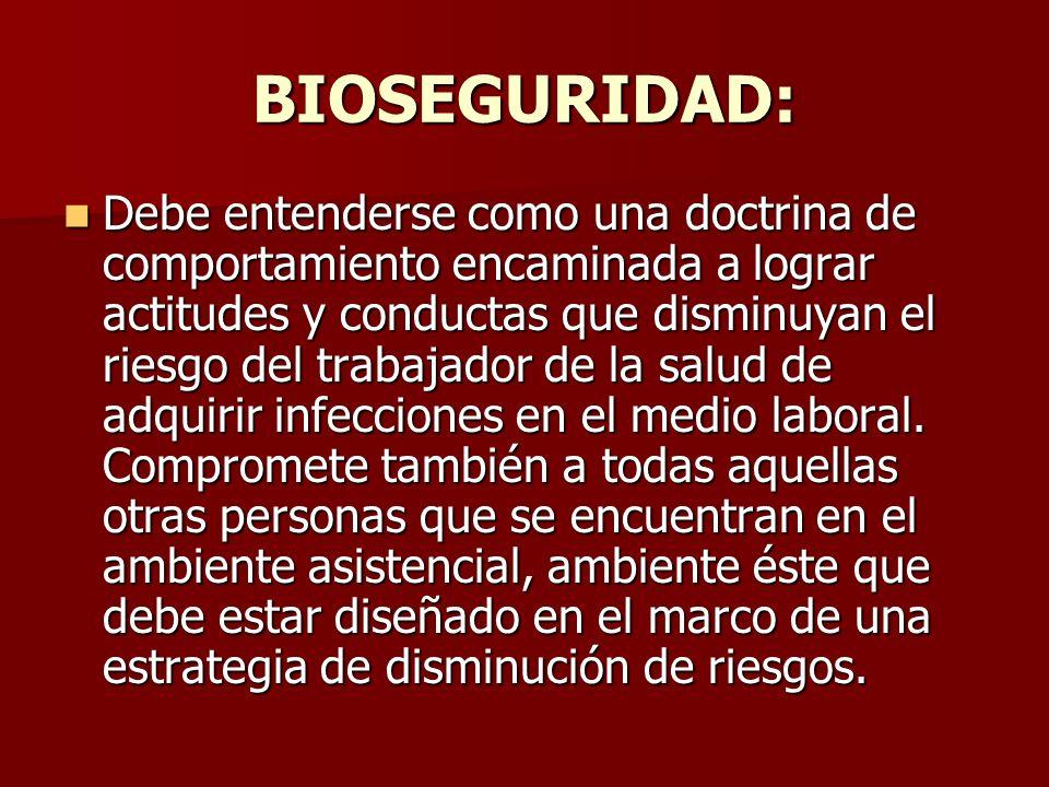 BIOSEGURIDAD: