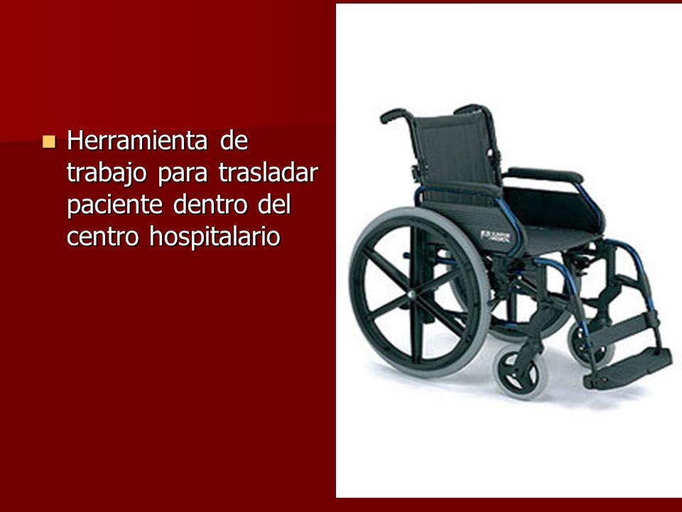 Herramienta de trabajo para trasladar paciente dentro del centro hospitalario