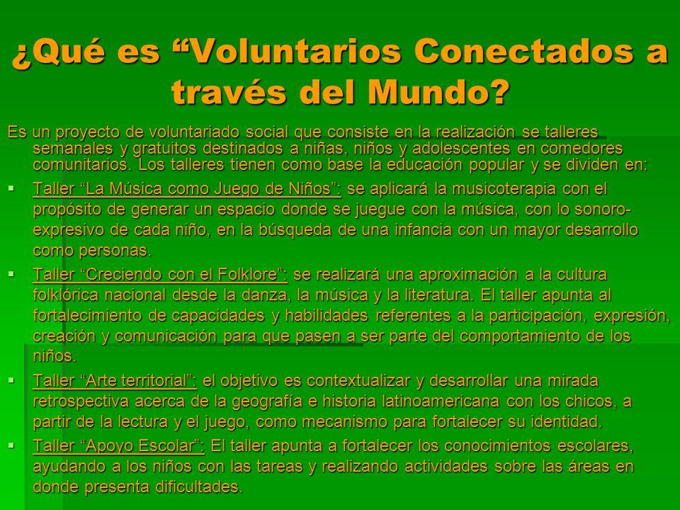 ¿Qué es Voluntarios Conectados a través del Mundo