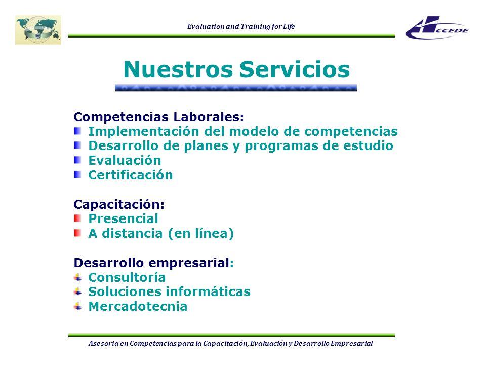 Nuestros Servicios Competencias Laborales: