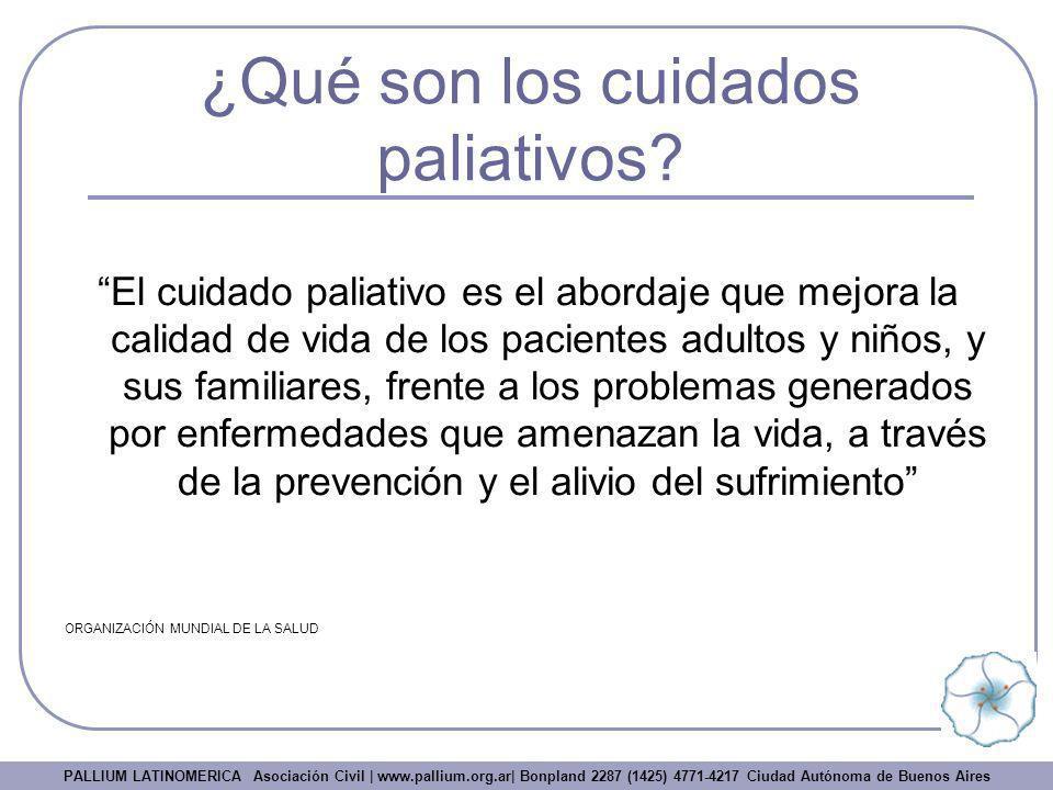 ¿Qué son los cuidados paliativos
