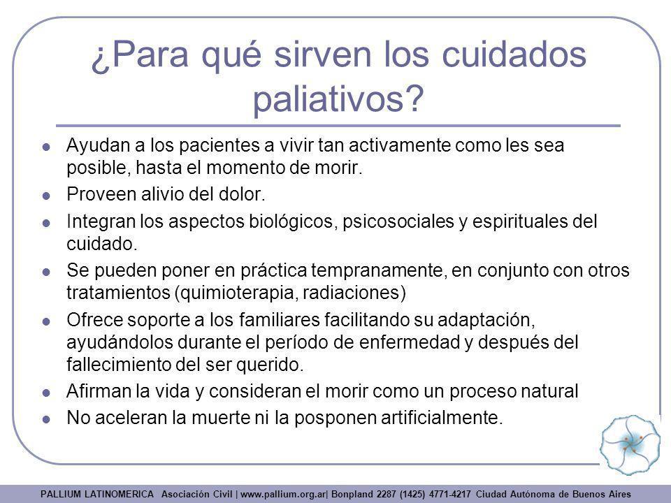 ¿Para qué sirven los cuidados paliativos